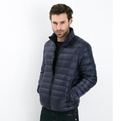 - 2016 Autumn Winter Duck Down Jacket, Ultra Light Thin plus size winter jacket for men Fashion mens Outerwear coat - nave blue / S  jetcube