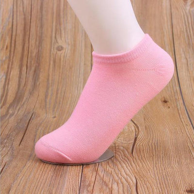 Socks - (10Pairs/lot)Wholesale Summer Solid Thin Short Women's Socks Female Cotton Low Cut Ankle Socks Ladies Colorful Cute Socks Boat - pink  jetcube