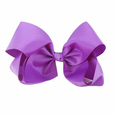 Hair Accessories - 10 pcs/lot 3 inch Grosgrain Ribbon 8 inch Big Hair Bow Boutique Hair Bow For Girls Hair Bow With Clip ZH10-14022015 - purple  jetcube