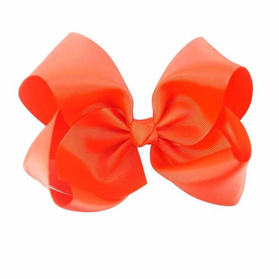 Hair Accessories - 10 pcs/lot 3 inch Grosgrain Ribbon 8 inch Big Hair Bow Boutique Hair Bow For Girls Hair Bow With Clip ZH10-14022015 - red  jetcube