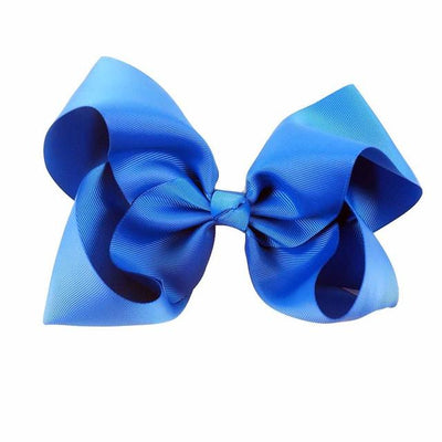 Hair Accessories - 10 pcs/lot 3 inch Grosgrain Ribbon 8 inch Big Hair Bow Boutique Hair Bow For Girls Hair Bow With Clip ZH10-14022015 - royal  jetcube