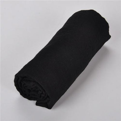 Scarves - 180 x 90cm Solid Color Cotton Linen Scarves Women Viscose Scarf Pareo Beach Shawls Wraps Tassels Sjaals Zomer Foulard Pashmina - scarf black  jetcube