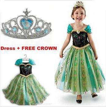 Girls Clothing - 2015 girl dress Elsa Anna princess dress costume kids party dresses summer children cosplay dress fantasia infantil Vestido - set6 / 3T  jetcube