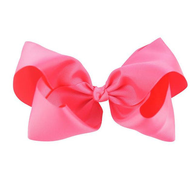 Hair Accessories - 10 pcs/lot 3 inch Grosgrain Ribbon 8 inch Big Hair Bow Boutique Hair Bow For Girls Hair Bow With Clip ZH10-14022015 - shocking pink  jetcube