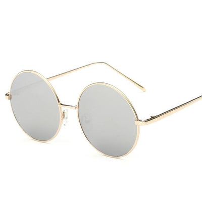 Sunglasses - 2016 Fashion Hot Vintage Round lens Sunglasses Men/women Polarized Gafas Oculos Retro Coating Sunglasses  Metal Frame Sunglasses - silver  jetcube