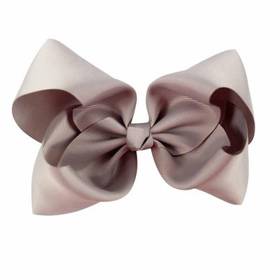 Hair Accessories - 10 pcs/lot 3 inch Grosgrain Ribbon 8 inch Big Hair Bow Boutique Hair Bow For Girls Hair Bow With Clip ZH10-14022015 - silver  jetcube