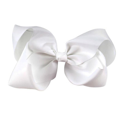 Hair Accessories - 10 pcs/lot 3 inch Grosgrain Ribbon 8 inch Big Hair Bow Boutique Hair Bow For Girls Hair Bow With Clip ZH10-14022015 - white  jetcube