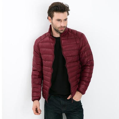 - 2016 Autumn Winter Duck Down Jacket, Ultra Light Thin plus size winter jacket for men Fashion mens Outerwear coat - win red / S  jetcube