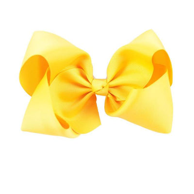 Hair Accessories - 10 pcs/lot 3 inch Grosgrain Ribbon 8 inch Big Hair Bow Boutique Hair Bow For Girls Hair Bow With Clip ZH10-14022015 - yellow  jetcube