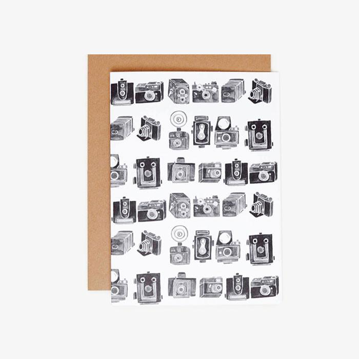 WS Stationery - #4036 - Vintage Camera Blank Card -   jetcube