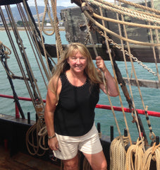 Tami Ashcraft at sea