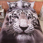 3D Tiger - Global View - Pillows and Duvet cover