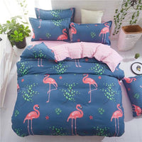 cartoon flamingo Bedding set