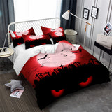 Halloween Bedding Set Blood Moon
