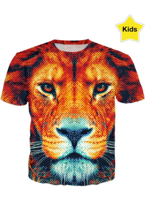 42562eb4 Brown Tiger All over printed t-shirt for kids