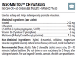 Insomnitol Chewables 60 tablets