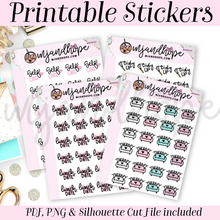 Self Care Sticker Set - PRINTABLE STICKERS - MJ and Hope