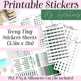 Ms. Ambitious Teeny Tiny Sticker Set - PRINTABLE STICKERS - MJ and Hope