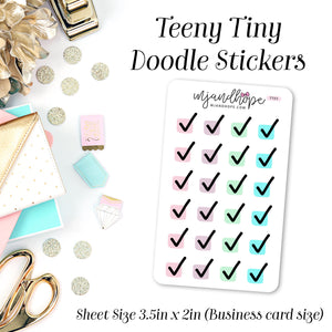 Checkbox Stickers | Teeny Tiny Doodles | TTD 5 - MJ and Hope