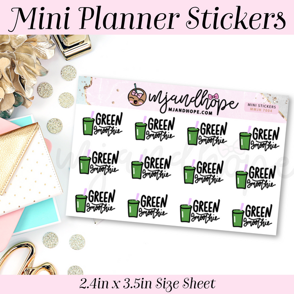 Green Smoothie Stickers | MMJH 7004 - MJ and Hope