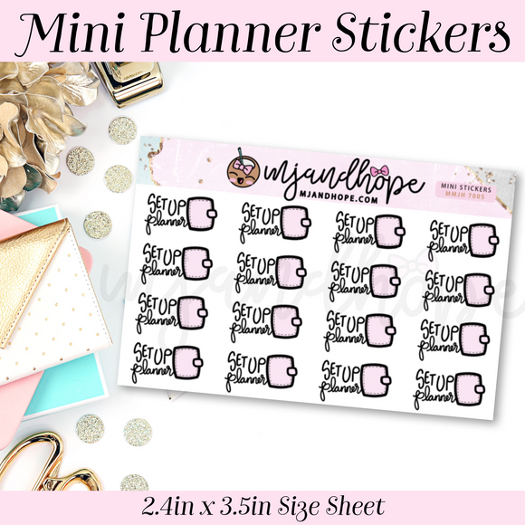 Set Up Planner Stickers | MMJH 7005 - MJ and Hope