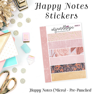 Micro Happy Notes Washi Stickers | MNWS 4 - MJ and Hope