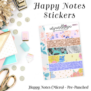 Micro Happy Notes Washi Stickers | MNWS 7 - MJ and Hope