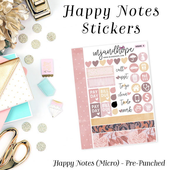 Micro Happy Notes Sticker Kit | MNMK 4 - MJ and Hope