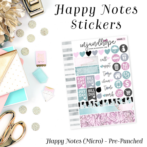 Micro Happy Notes Sticker Kit | MNMK 3 - MJ and Hope