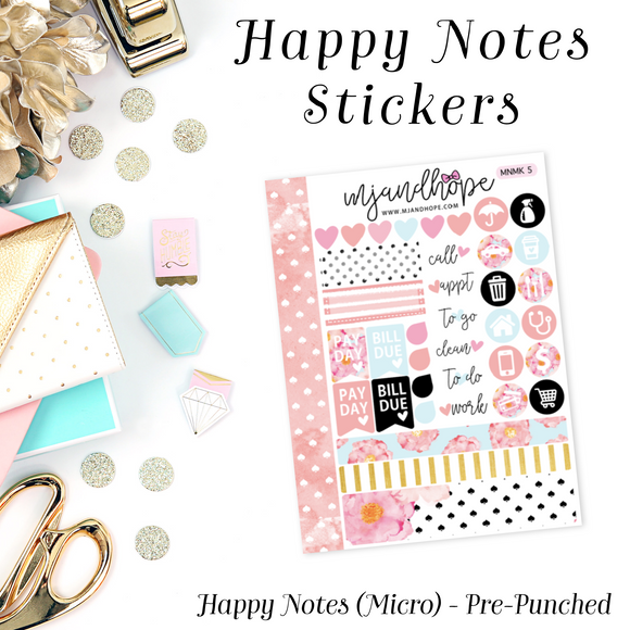 Micro Happy Notes Sticker Kit | MNMK 5 - MJ and Hope