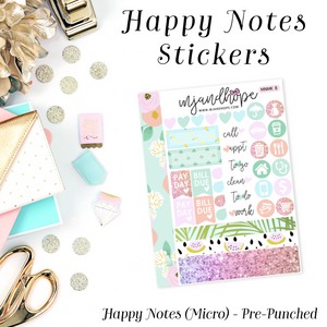Micro Happy Notes Sticker Kit | MNMK 8 - MJ and Hope
