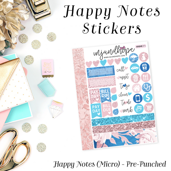 Micro Happy Notes Sticker Kit | MNMK 11 - MJ and Hope