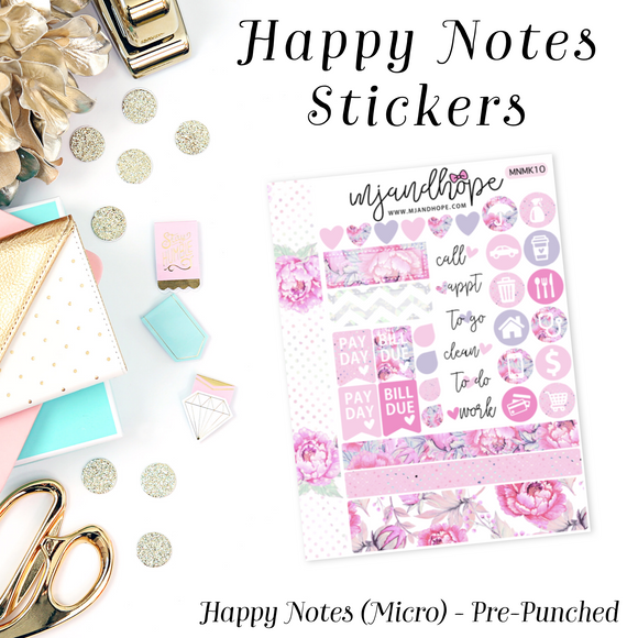 Micro Happy Notes Sticker Kit | MNMK 10 - MJ and Hope