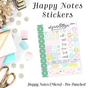 Micro Happy Notes Sticker Kit | MNMK 9 - MJ and Hope
