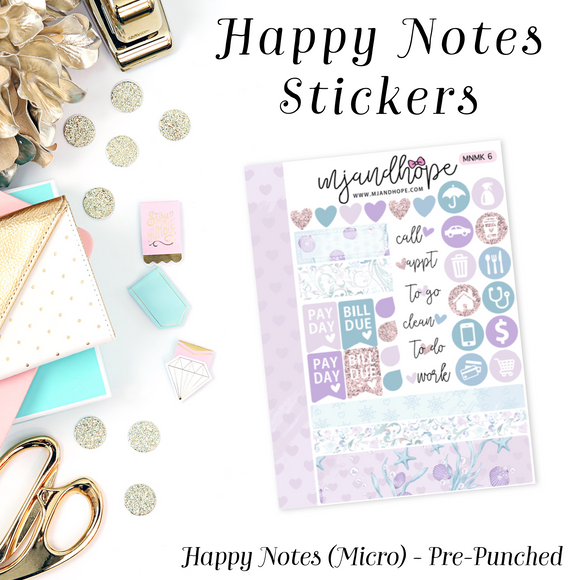 Micro Happy Notes Sticker Kit | MNMK 6 - MJ and Hope