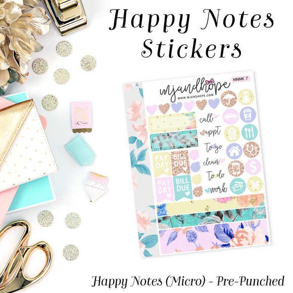 Micro Happy Notes Sticker Kit | MNMK 7 - MJ and Hope
