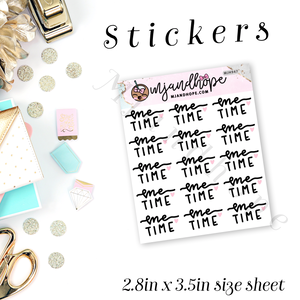 Me Time Stickers | MJH 947 - MJ and Hope