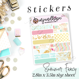 Summer Fancy -  Planner Stickers - MJ and Hope