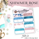 Shimmer Rose -  Planner Stickers - MJ and Hope