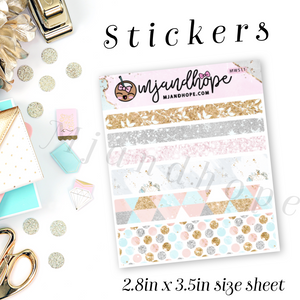 Wishful Day Washi Stickers | 5mm/10mm/15mm | Planner Stickers | MWS11 - MJ and Hope