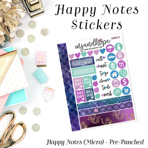 Micro Happy Notes Sticker Kit | MNMK 14 - MJ and Hope