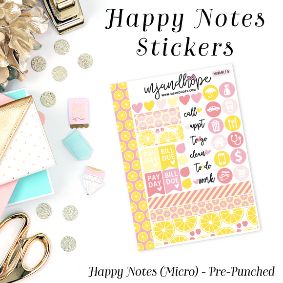 Micro Happy Notes Sticker Kit | MNMK 15 - MJ and Hope