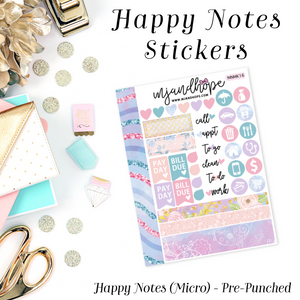 Micro Happy Notes Sticker Kit | MNMK 16 - MJ and Hope