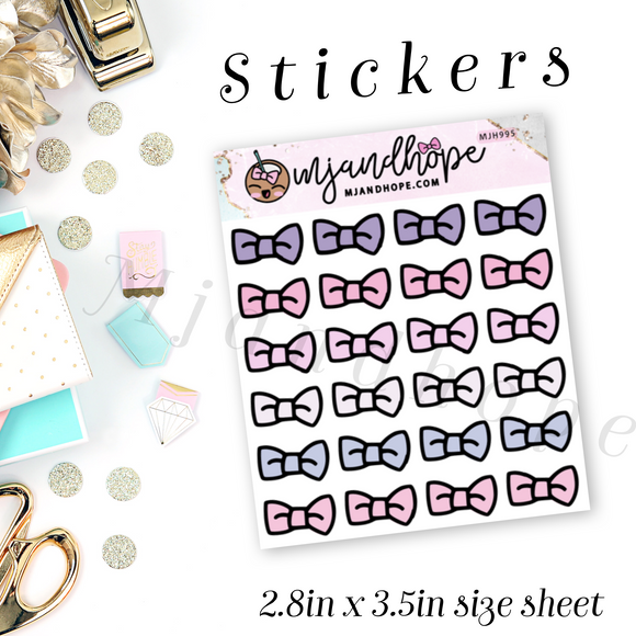 Bow Icon Stickers | Ms. Dainty | MJH 995 - MJ and Hope