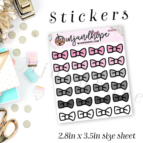 Bow Icon Stickers | Ms. Organized | MJH 996 - MJ and Hope