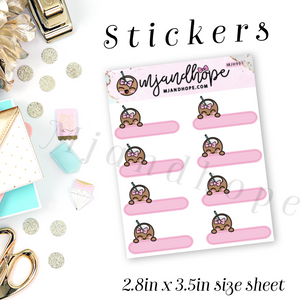 Coco Pink Label Stickers | MJH 991 - MJ and Hope