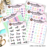 Candy Color Mini Functional Stickers | MFS001-MFS006 - MJ and Hope