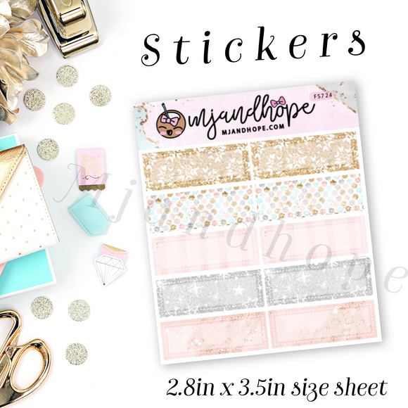 Mini Box Stickers - Wishful Day | Planner Stickers | FS724 - MJ and Hope