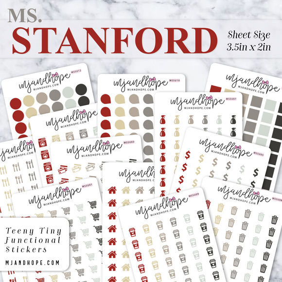 Ms. Stanford | Teeny Tiny Functional Stickers - MJ and Hope
