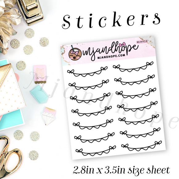 Doodle Banner Stickers | MJH 932 - MJ and Hope